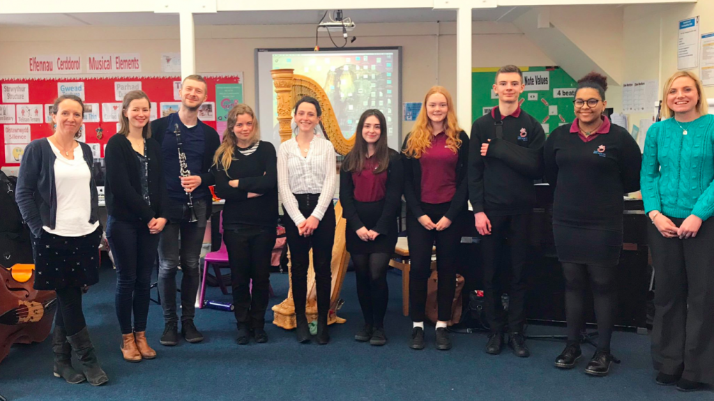 Young Composers of Dyfed Workshop at Bryngwyn School - April 2019