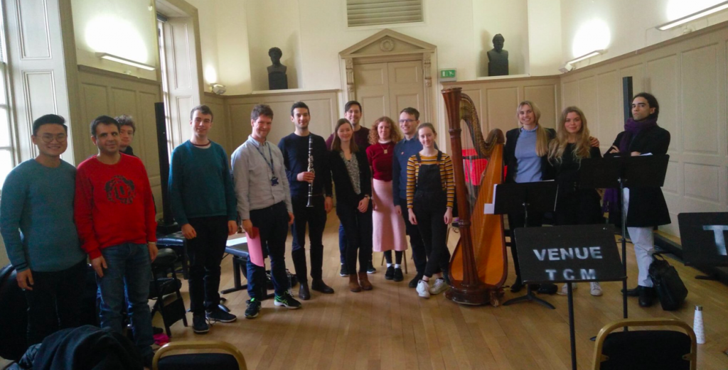 With Master's Composition students from Trinity Laban Conservatoire of Music and Dance - March 2019