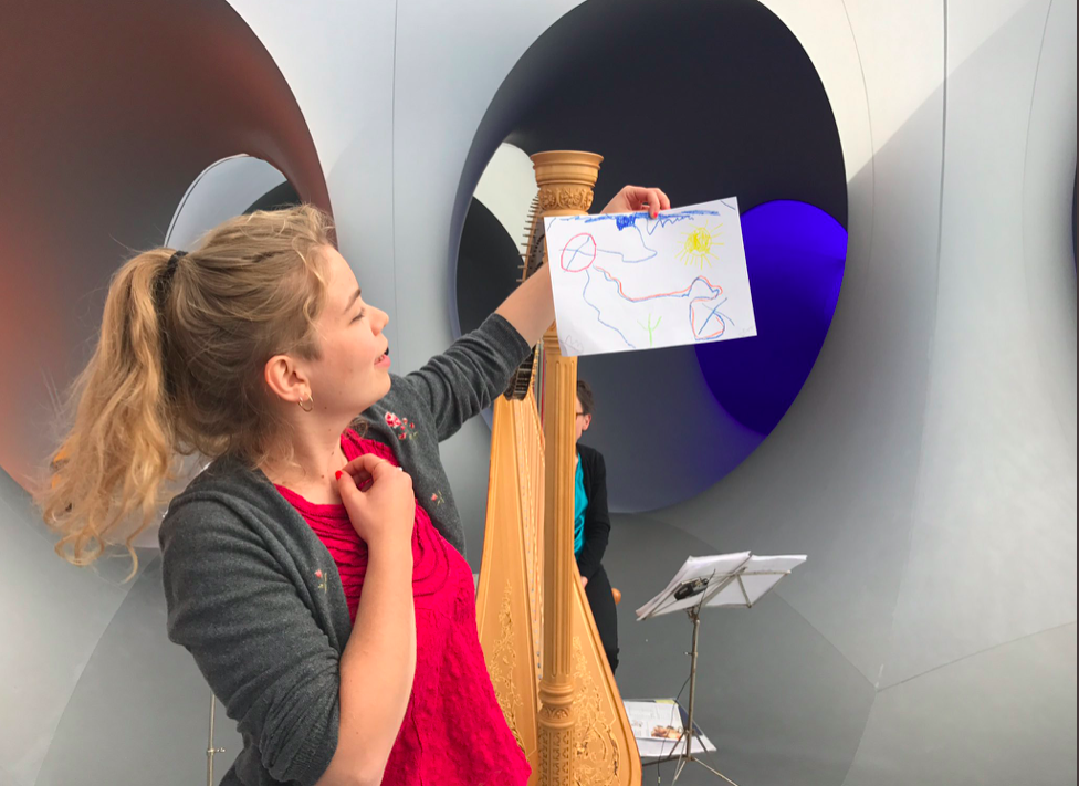 Improvising on graphic scores by passers-by at the Colourscape Festival - September 2017